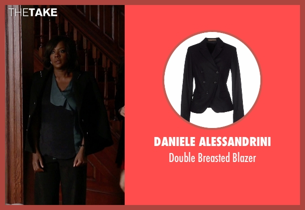 Daniele Alessandrini black blazer from How To Get Away With Murder seen with Annalise Keating (Viola Davis)