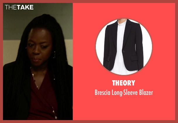 Theory black blazer from How To Get Away With Murder seen with Annalise Keating (Viola Davis)