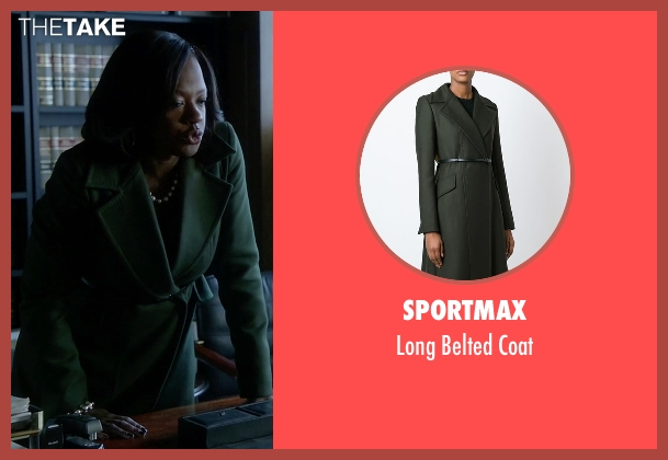 Sportmax black coat from How To Get Away With Murder seen with Annalise Keating (Viola Davis)