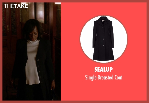 Sealup black coat from How To Get Away With Murder seen with Annalise Keating (Viola Davis)