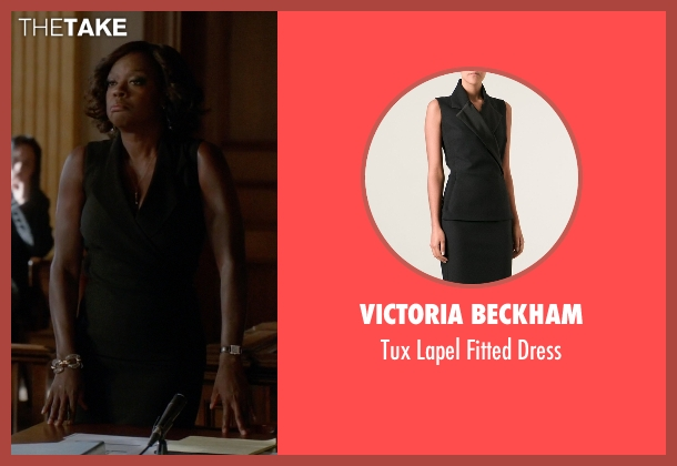 Victoria Beckham black dress from How To Get Away With Murder seen with Annalise Keating (Viola Davis)