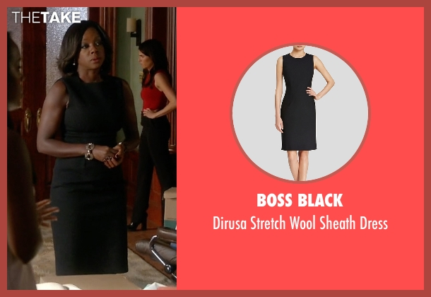 Boss Black black dress from How To Get Away With Murder seen with Annalise Keating (Viola Davis)