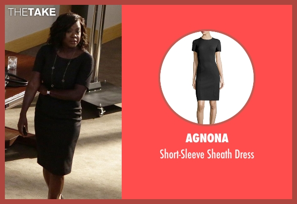 Agnona black dress from How To Get Away With Murder seen with Annalise Keating (Viola Davis)