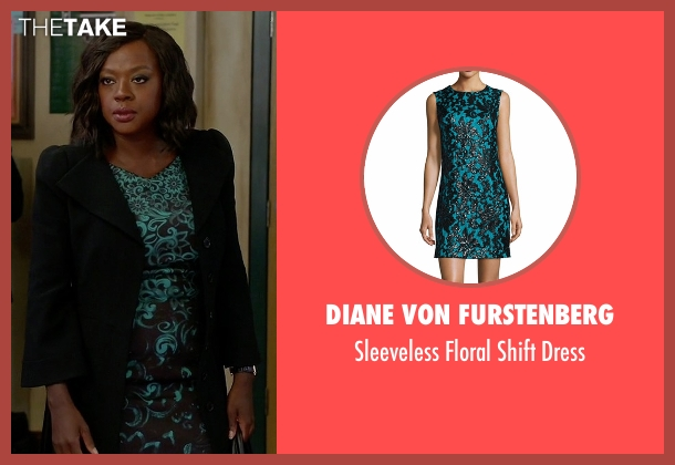 Diane von Furstenberg black dress from How To Get Away With Murder seen with Annalise Keating (Viola Davis)