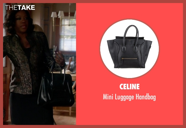 Celine black handbag from How To Get Away With Murder seen with Annalise Keating (Viola Davis)