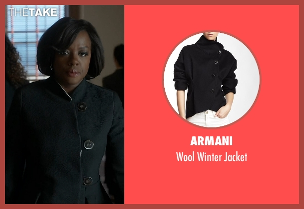 Armani black jacket from How To Get Away With Murder seen with Annalise Keating (Viola Davis)