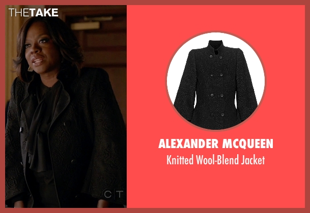 Alexander McQueen black jacket from How To Get Away With Murder seen with Annalise Keating (Viola Davis)