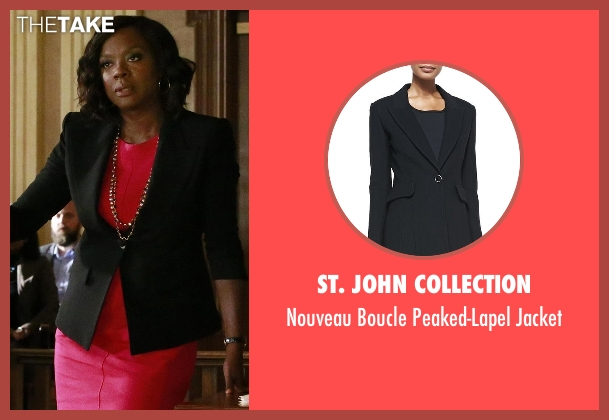 St. John Collection black jacket from How To Get Away With Murder seen with Annalise Keating (Viola Davis)