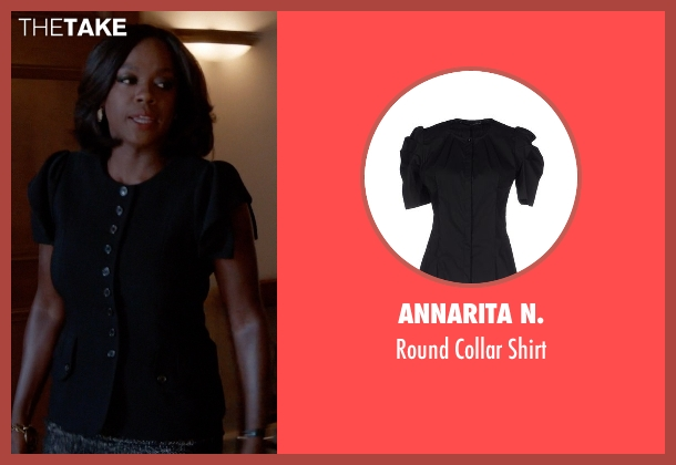 Annarita N. black shirt from How To Get Away With Murder seen with Annalise Keating (Viola Davis)