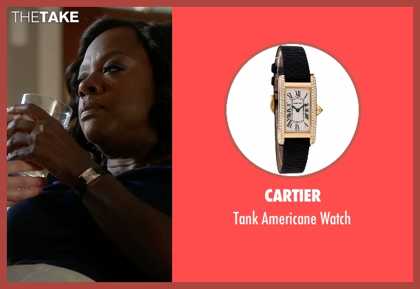 Cartier black watch from How To Get Away With Murder seen with Annalise Keating (Viola Davis)