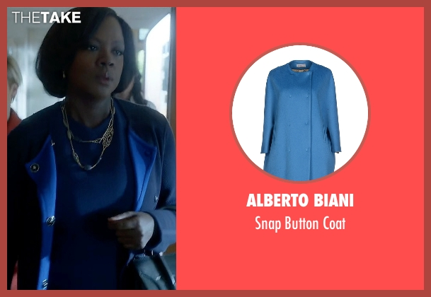 Alberto Biani blue coat from How To Get Away With Murder seen with Annalise Keating (Viola Davis)