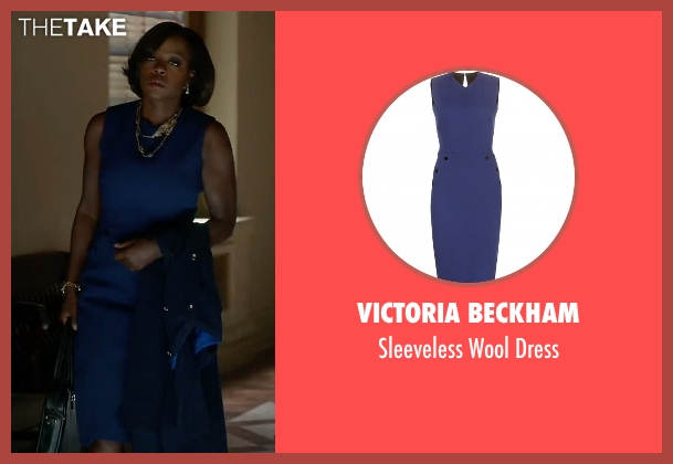 Victoria Beckham blue dress from How To Get Away With Murder seen with Annalise Keating (Viola Davis)
