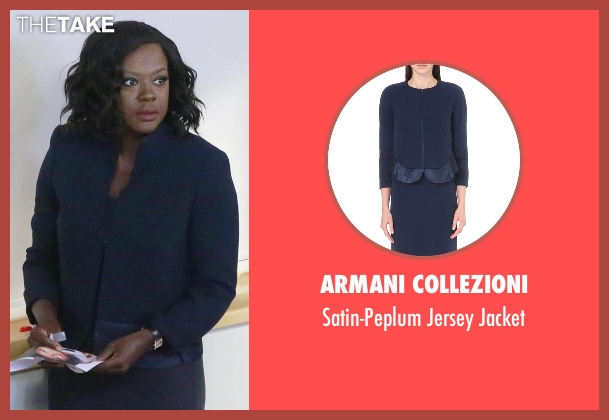 Armani Collezioni blue jacket from How To Get Away With Murder seen with Annalise Keating (Viola Davis)