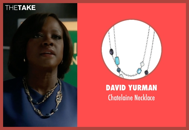 David Yurman blue necklace from How To Get Away With Murder seen with Annalise Keating (Viola Davis)