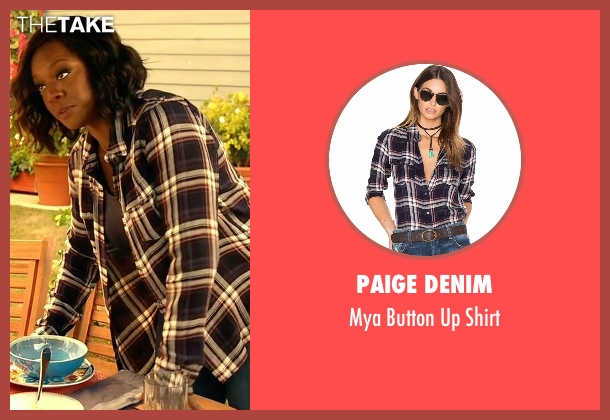 Paige Denim blue shirt from How To Get Away With Murder seen with Annalise Keating (Viola Davis)