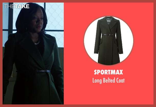 Sportmax coat from How To Get Away With Murder seen with Annalise Keating (Viola Davis)