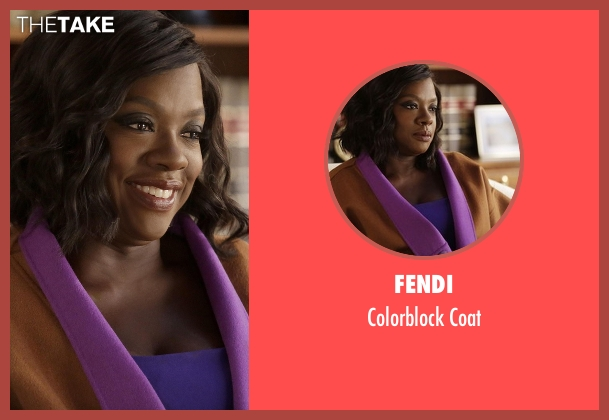 Fendi coat from How To Get Away With Murder seen with Annalise Keating (Viola Davis)