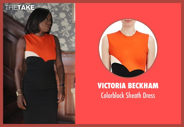 Victoria Beckham dress from How To Get Away With Murder seen with Annalise Keating (Viola Davis)