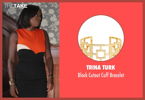 Trina Turk gold bracelet from How To Get Away With Murder seen with Annalise Keating (Viola Davis)