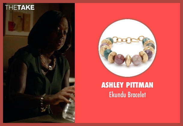 Ashley Pittman gold bracelet from How To Get Away With Murder seen with Annalise Keating (Viola Davis)