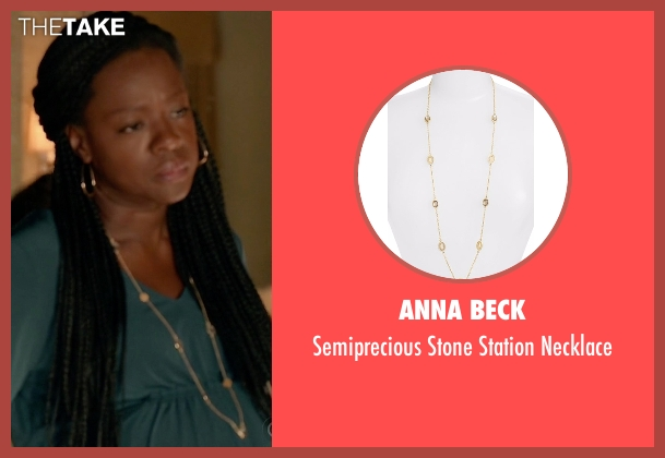 Anna Beck gold necklace from How To Get Away With Murder seen with Annalise Keating (Viola Davis)