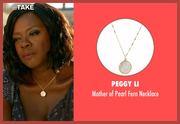 Peggy Li gold necklace from How To Get Away With Murder seen with Annalise Keating (Viola Davis)