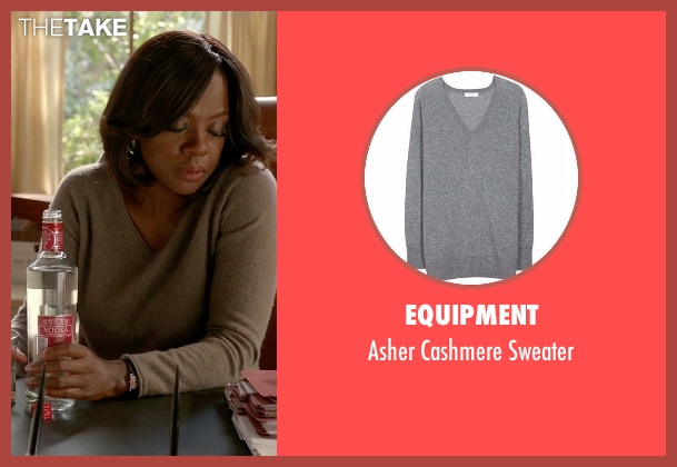 Equipment gray sweater from How To Get Away With Murder seen with Annalise Keating (Viola Davis)