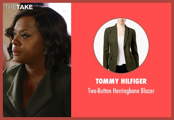 Tommy Hilfiger  green blazer from How To Get Away With Murder seen with Annalise Keating (Viola Davis)