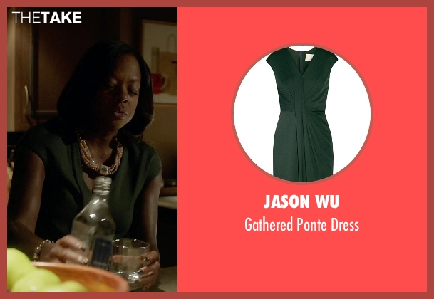 Jason Wu green dress from How To Get Away With Murder seen with Annalise Keating (Viola Davis)