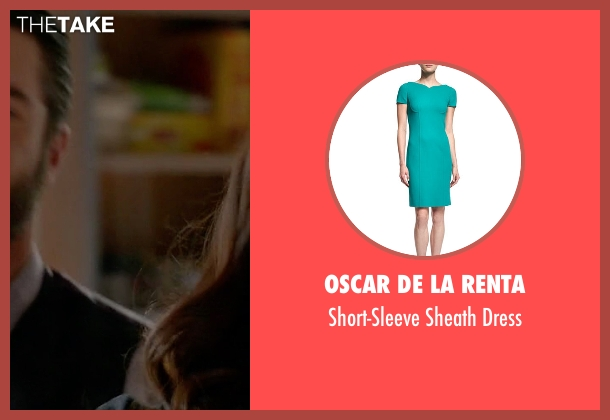 Oscar De La Renta green dress from How To Get Away With Murder seen with Annalise Keating (Viola Davis)