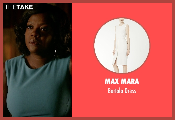 Max Mara green dress from How To Get Away With Murder seen with Annalise Keating (Viola Davis)