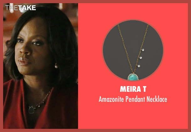 Meira T green necklace from How To Get Away With Murder seen with Annalise Keating (Viola Davis)