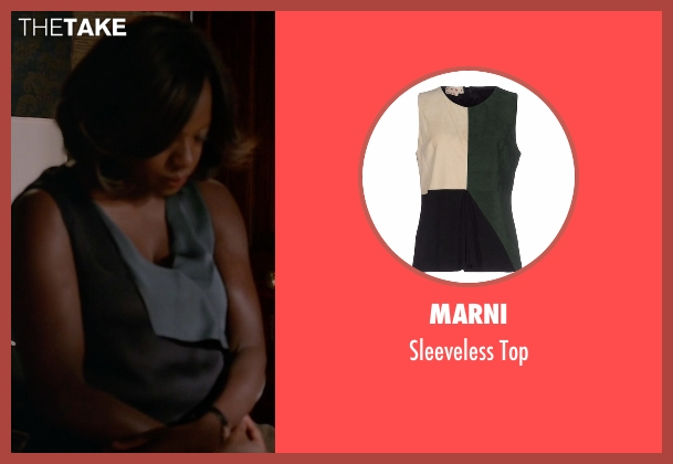 Marni green top from How To Get Away With Murder seen with Annalise Keating (Viola Davis)