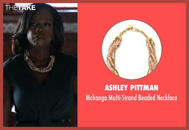 Ashley Pittman necklace from How To Get Away With Murder seen with Annalise Keating (Viola Davis)