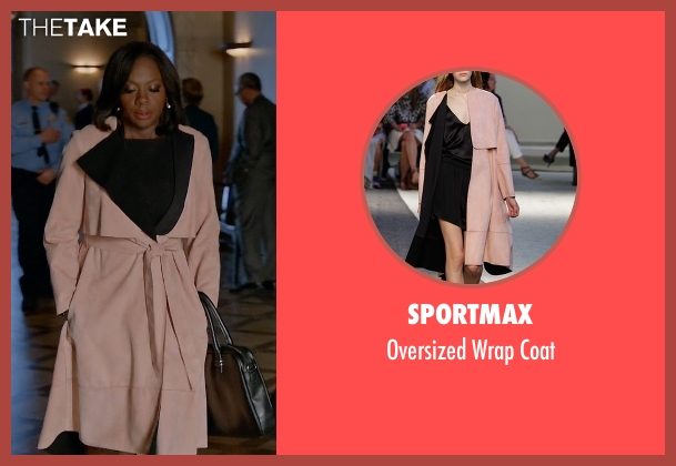 Sportmax pink coat from How To Get Away With Murder seen with Annalise Keating (Viola Davis)