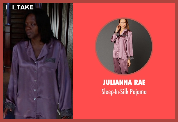 Julianna Rae purple pajama from How To Get Away With Murder seen with Annalise Keating (Viola Davis)