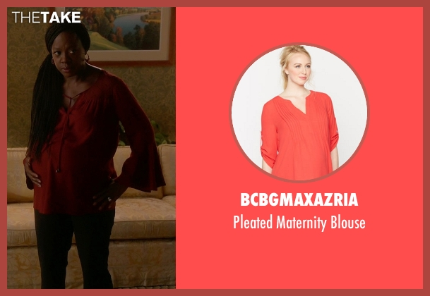 BCBGMaxazria red blouse from How To Get Away With Murder seen with Annalise Keating (Viola Davis)