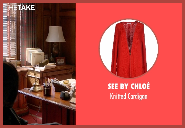 See By Chloé red cardigan from How To Get Away With Murder seen with Annalise Keating (Viola Davis)