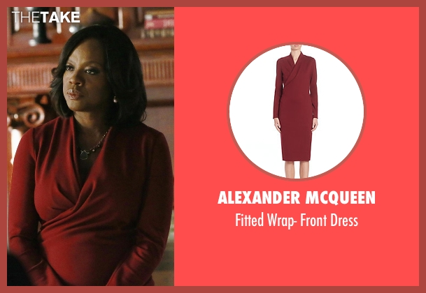 Alexander McQueen red dress from How To Get Away With Murder seen with Annalise Keating (Viola Davis)