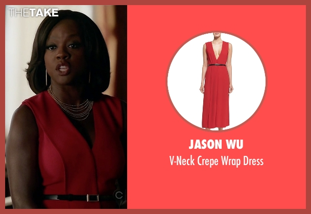 Jason Wu	 red dress from How To Get Away With Murder seen with Annalise Keating (Viola Davis)