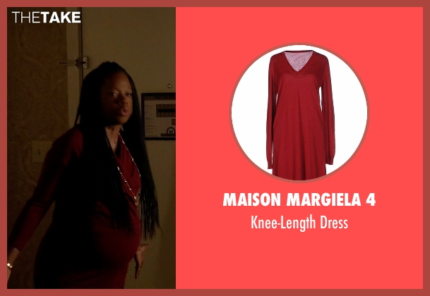 Maison Margiela 4 red dress from How To Get Away With Murder seen with Annalise Keating (Viola Davis)