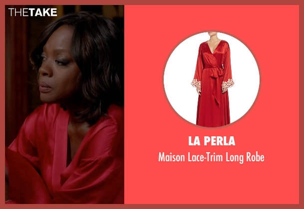La Perla red robe from How To Get Away With Murder seen with Annalise Keating (Viola Davis)