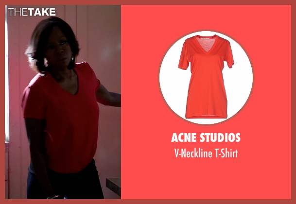 Acne Studios red t-shirt from How To Get Away With Murder seen with Annalise Keating (Viola Davis)