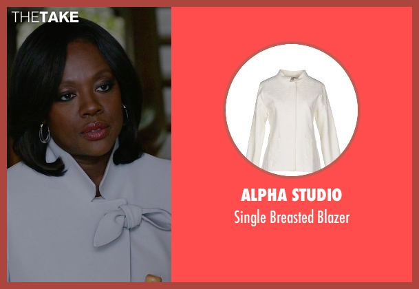 Alpha Studio white blazer from How To Get Away With Murder seen with Annalise Keating (Viola Davis)