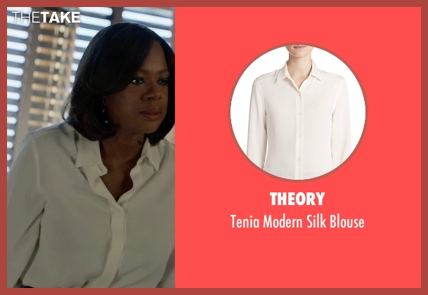 Theory white blouse from How To Get Away With Murder seen with Annalise Keating (Viola Davis)
