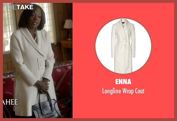 Enna white coat from How To Get Away With Murder seen with Annalise Keating (Viola Davis)