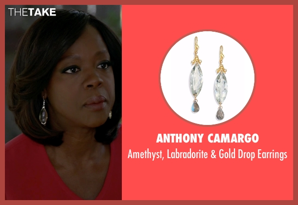 Anthony Camargo white earrings from How To Get Away With Murder seen with Annalise Keating (Viola Davis)
