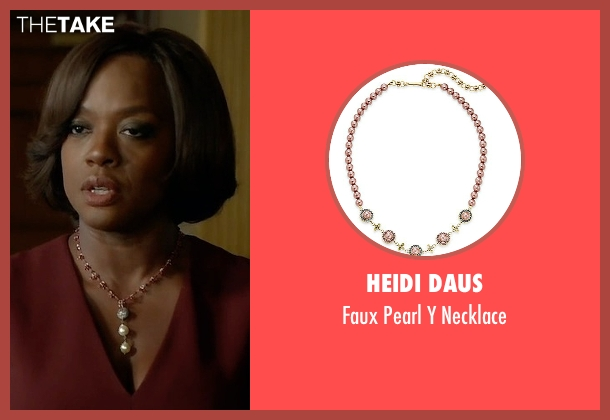 Heidi Daus white necklace from How To Get Away With Murder seen with Annalise Keating (Viola Davis)