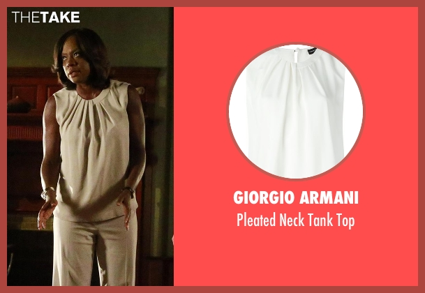 Giorgio Armani white top from How To Get Away With Murder seen with Annalise Keating (Viola Davis)