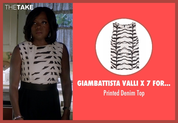Giambattista Valli X 7 For All Mankind white top from How To Get Away With Murder seen with Annalise Keating (Viola Davis)
